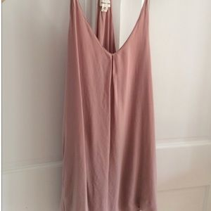 Silence + Noise pink slip dress